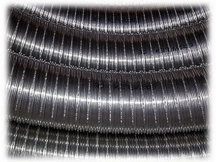 Caña Caños Tubo Acero Inoxidable 316 flexible 10 mt diámetro 100 interior liso a Norma CE