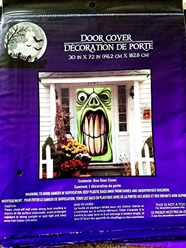 Halloween Creepy Spooky Stickers Decor Home Window Gel Clings Decorations Haunted House Monster Door (Happy Halloween Coloring Pages For Toddlers)