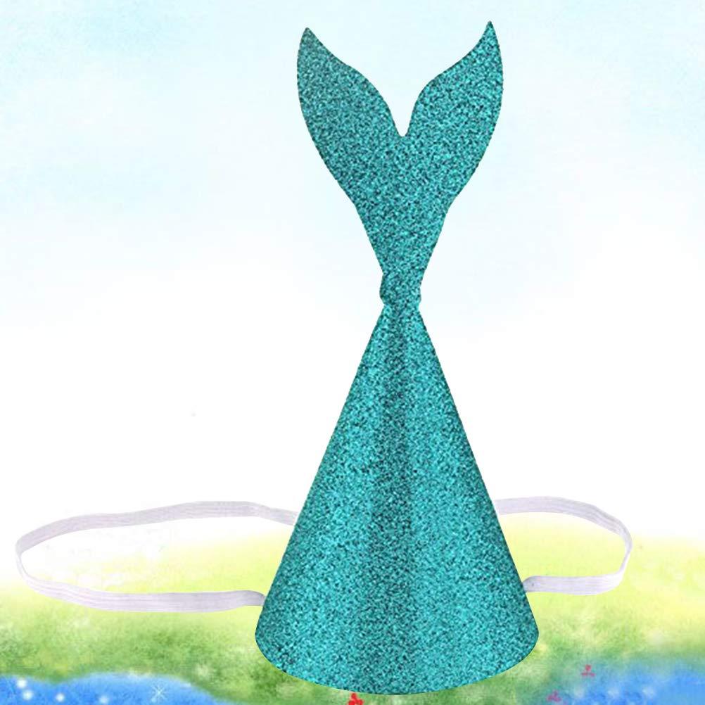 Amosfun Corona de cumpleaños de Sombreros de Cola de Sirena ...