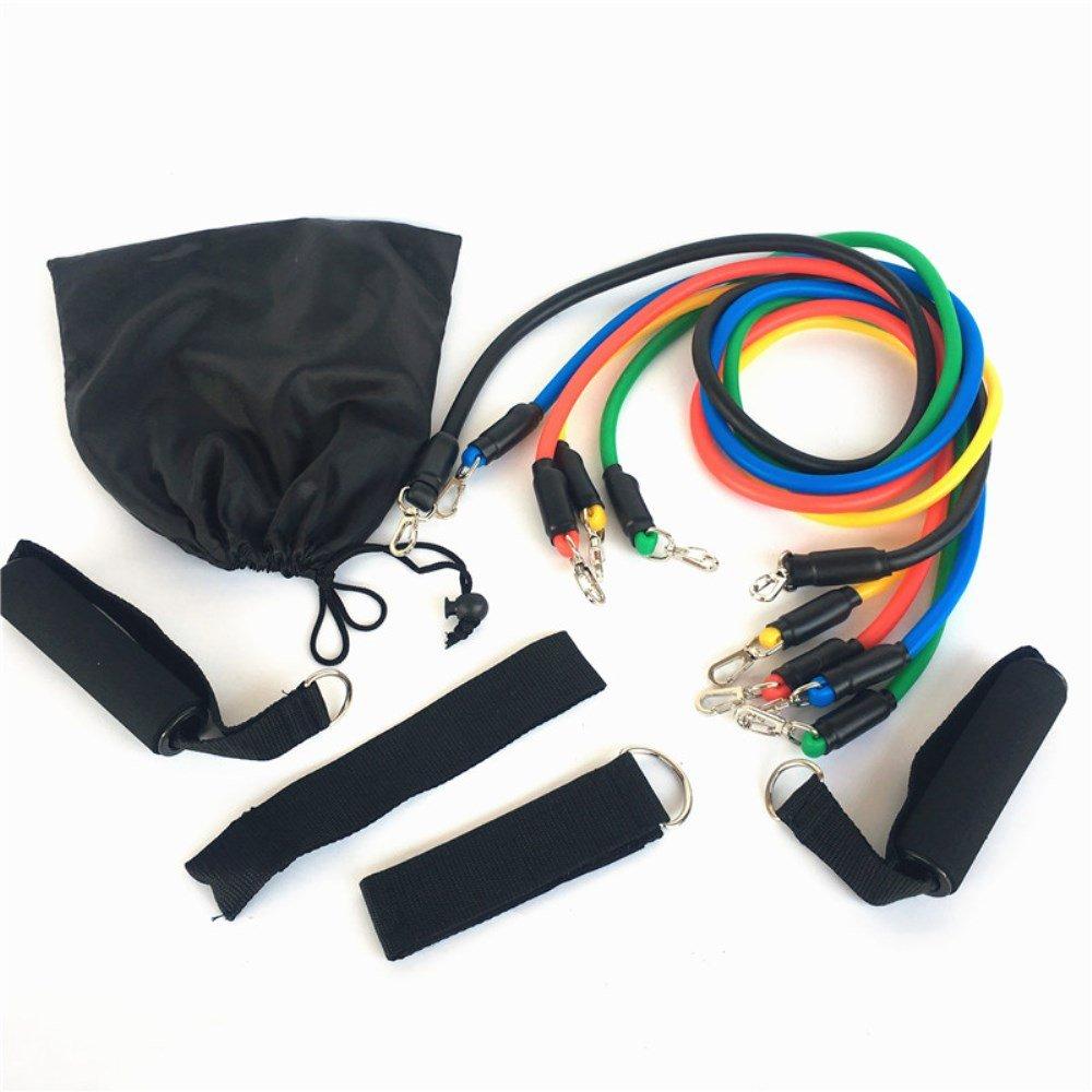 Chaiyan Elastische Widerstandsbänder, Elastischer Widerstand Für Körperliche Übungen Fitnesstraining Naturlatex, 11-Teiliger Puller
