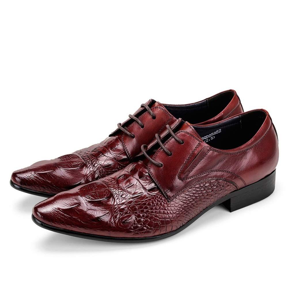 ZHRUI Schnüren Sie Sich Krokodil-Muster-Formale Schuhe für Schuhe Männer-echtes Leder-dauerhafte Schuhe für (Farbe   Rot, Größe   EU 46) ff3832