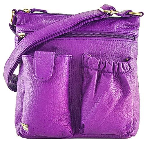 King RFID Bag Purse Purple Poppy Shoulder protected Organizer pCFPPwqdR