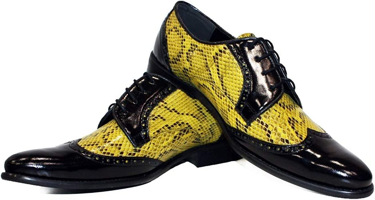 Handmade Colorful Italian Men Shoes Modello Trivia