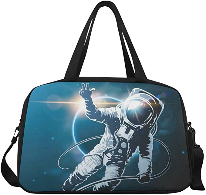 The Dark Unicorn Custom Waterproof Travel Tote Bag Duffel Bag Crossbody Luggage handbag