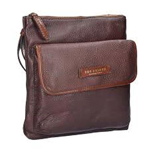 b60911c0c4 The Bridge Plume Mix Uomo Borsa a tracolla marrone: Amazon.it: Scarpe e  borse