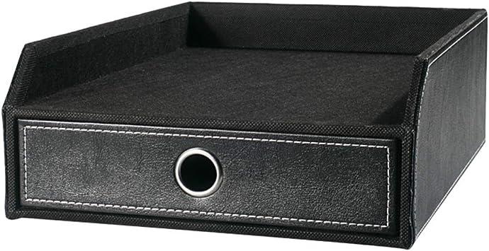 Acabado Caja De Almacenamiento Caja Negro Oficina Alto Grado De Rack Inicio De Escritorio Cajón Tipo De Papel A4 Carpeta De Almacenamiento: Amazon.es: Electrónica