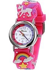 Ravel Children's 3D Pink Unicorn Time Teacher Watch