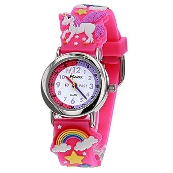 Kids Watch Fashion Cute Cartoon Unicorn Leather Strap Wristwatch Classic Digital Girl Boy Watch Child Quartz Watch Matching In Colour Watches