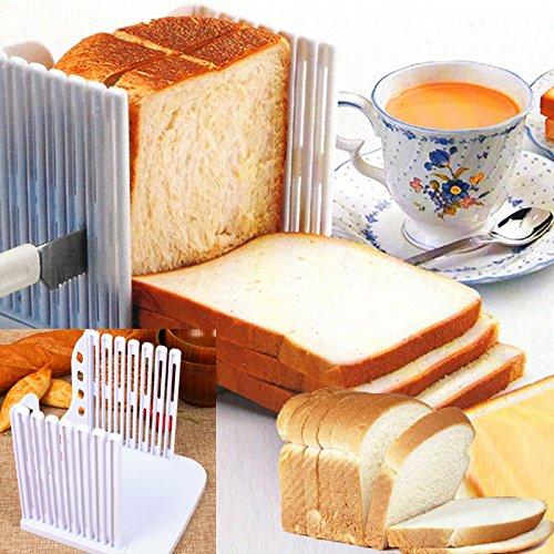Bread Rack - Plastic Splicing Toast Bread Slicer Cutting Guide Loaf Cutter Rack Slicing 8 - Razor Bread Black Miniature Gear Rail Rack 2u Other 2u Gold Cake Layer Slice Slicer Coffee Cake Sli