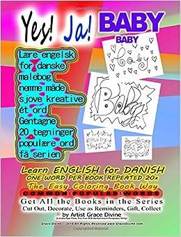 Yes Ja Baby Baby Lære Engelsk For Danske Malebog Nemme Måde Sjove