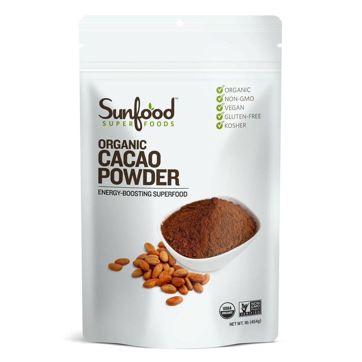 Sunfood Cacao Powder, 1lb, Organic