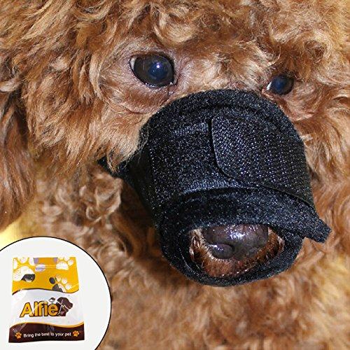 Alfie Pet by Petoga Couture - Matti Adjustable Quick Fit Nylon Mesh Muzzle - Color: Black, Size: Small