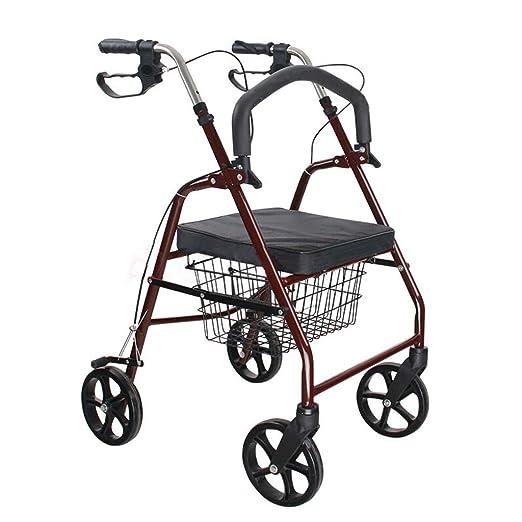 Walker Walking ayudas carrito de compras vino rojo acero carbono ...