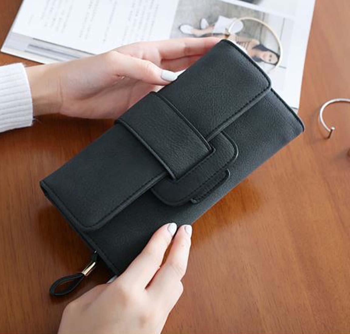 d33ed0748db35 ... DNFC Geldbörse Damen Portemonnaie Lang Portmonee Elegant Clutch  Handtasche Groß Geldbeutel PU Leder Geldtasche mit Reißverschluss