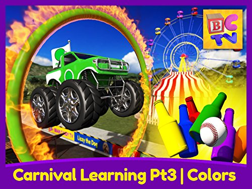 Carnival Learning Pt3 - Learn Colors with Monster Trucks and a Carnival Game for - Kids Prime Games