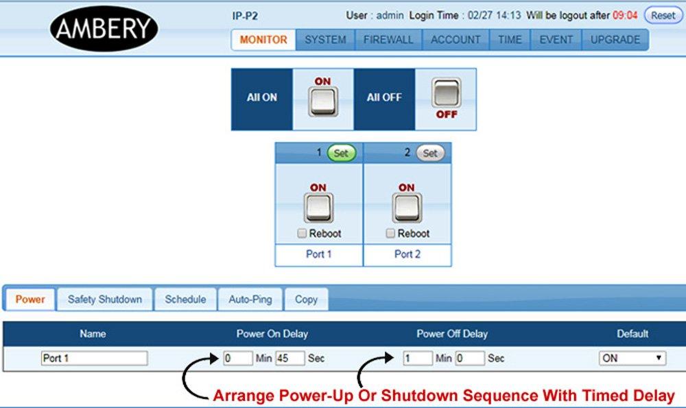 Professional 2-Port Remote Power Switch - Web Control
