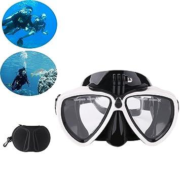 Gafas de buceo gafas de natación, máscara de buceo two-window lente de cristal