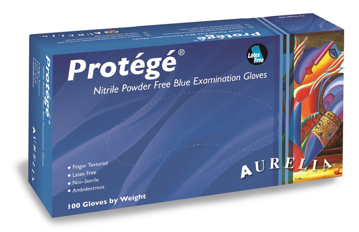 Aurelia Protégé Nitrile Glove, Powder Free, 9.5'' Length, 4 mils Thick, X-Large (Pack of 1000)