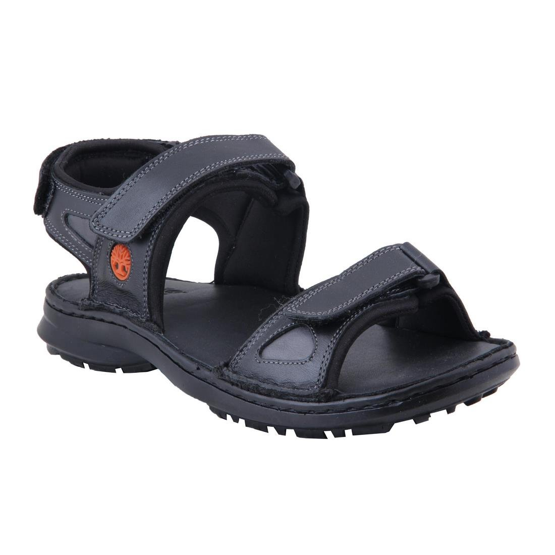 87425cc2ae02 Ventoland Men s Black Genuine Leather Sandals (GWVLS-0461 45)- 11 UK  Buy  Online at Low Prices in India - Amazon.in