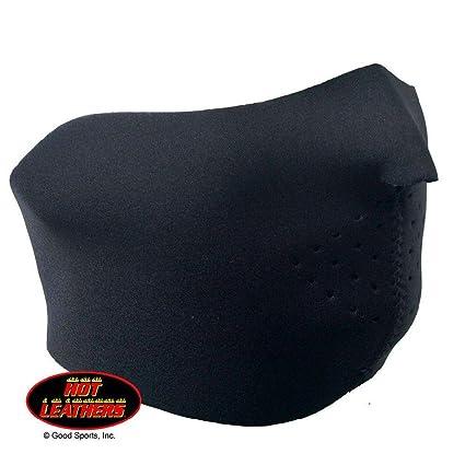 Solid Black Neoprene Half Face Mask Motorcycle Biker Reversible Outdoor Sports