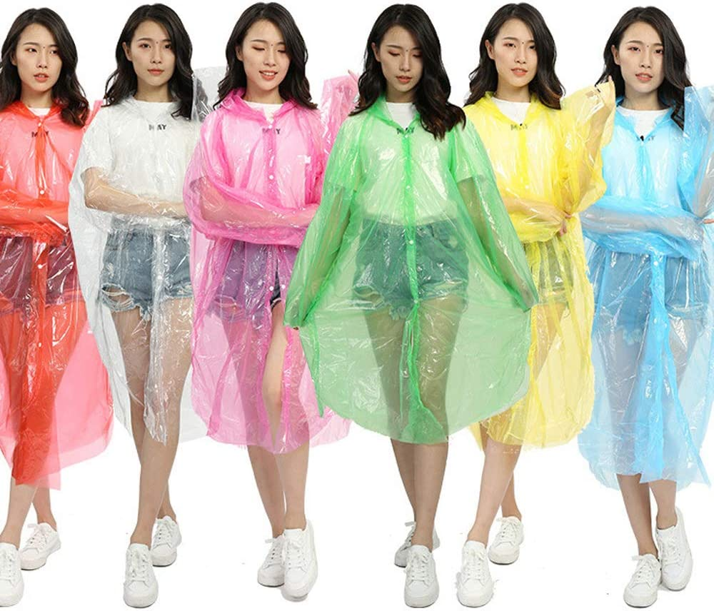 5pcs Outdoor Protection Gown Disposable Adult Emergency Waterproof Rain Coat Lot