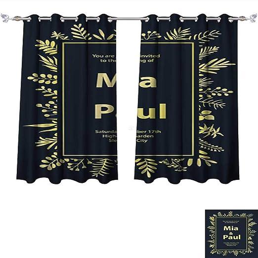 Cortinas Opacas De Lino Con Diseño Floral Para Invitaciones