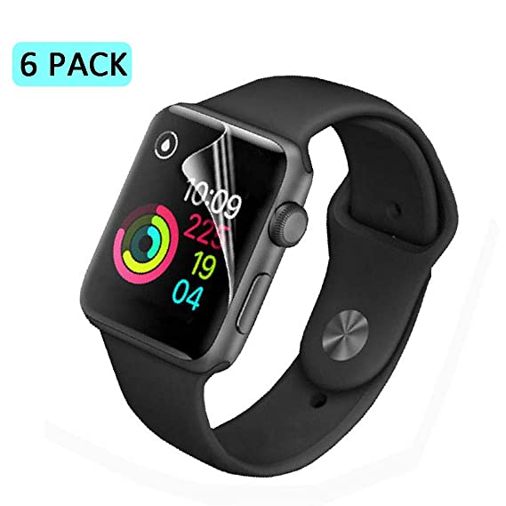 Apple Watch Screen Protector 42mm, (Series 3/2/1 Compatible) Beafup Full Coverage Screen Protector Compatible for Apple Watch Clear HD Anti-Bubble ...