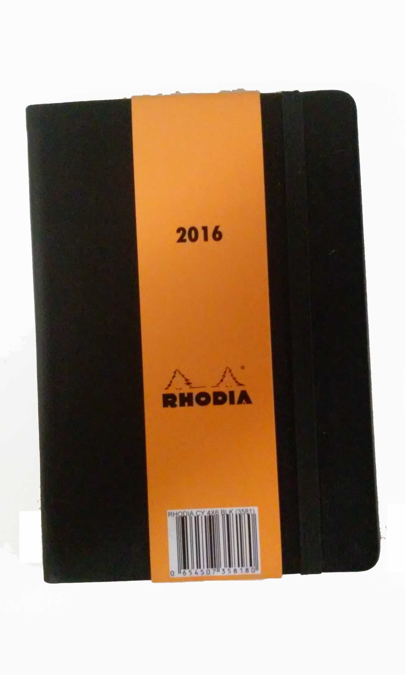 Rhodia For 2016 Diary with Note Paper 4'' x 6'' (Black)