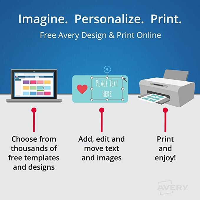 Amazon Avery Sticker Project Paper 8 12 X 11 Inches Pack Of