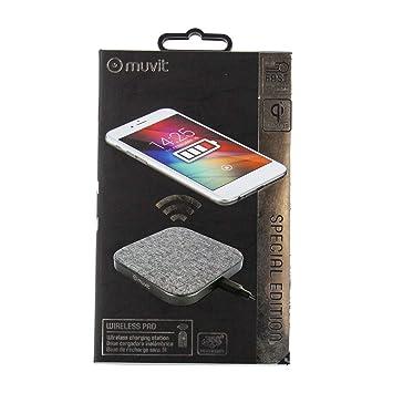 Muvit MUWIR0009 - Cargador sobremesa inalámbrico Qi de 2A ...