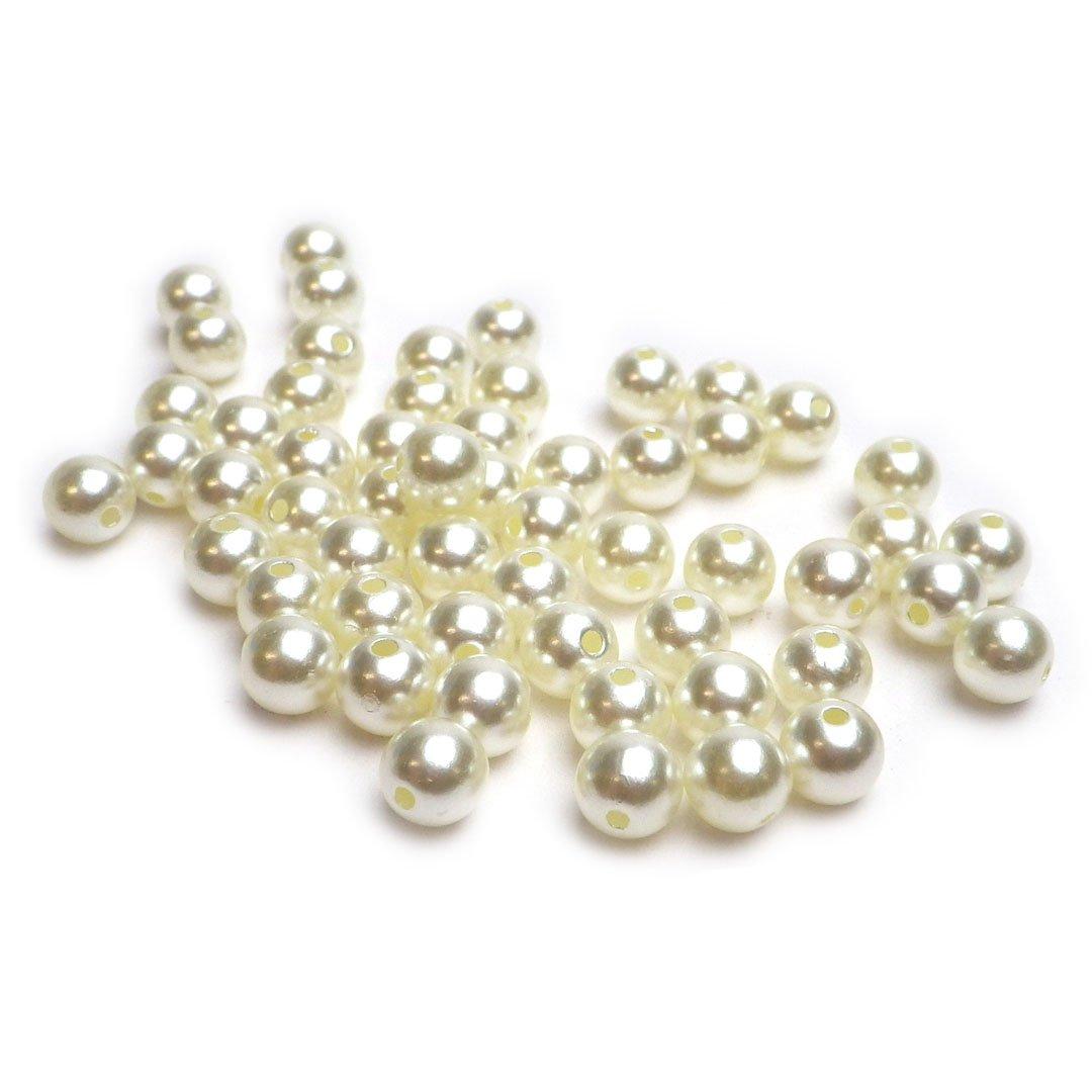 Ivory-Champagner 1000 perle artificiali decorative sfuse 8 mm con foro