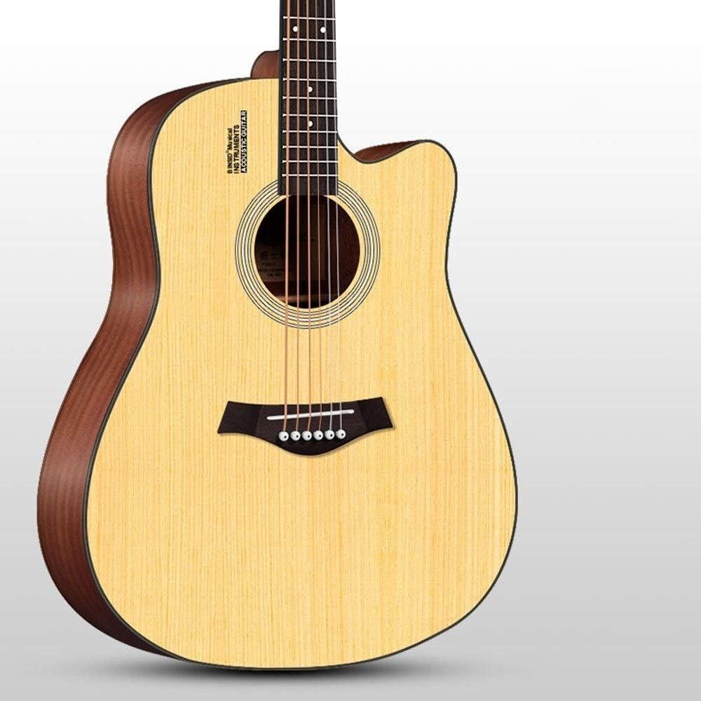 Loivrn Guitarra acústica de una sola placa de color vintage ...