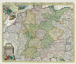 Historische Karte Deutschland Das Heilige Romische Reich 1740