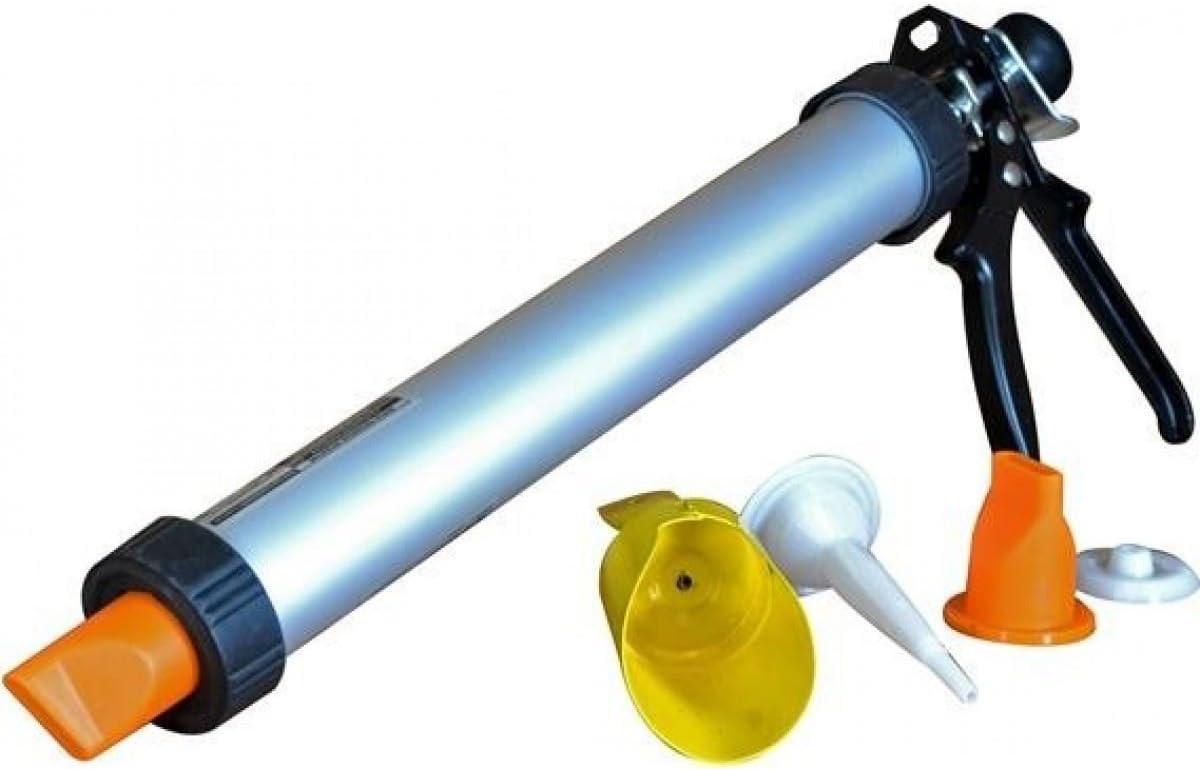 Juego de Pistola de mortero y lechado Profesional multifunci/ón Acero Inoxidable ABS Reuvv Herramientas de calafateo