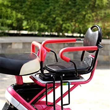 Bicycle Baby Seat Cycling Leather Child Chair Quick Release Armrest Saddle Seats