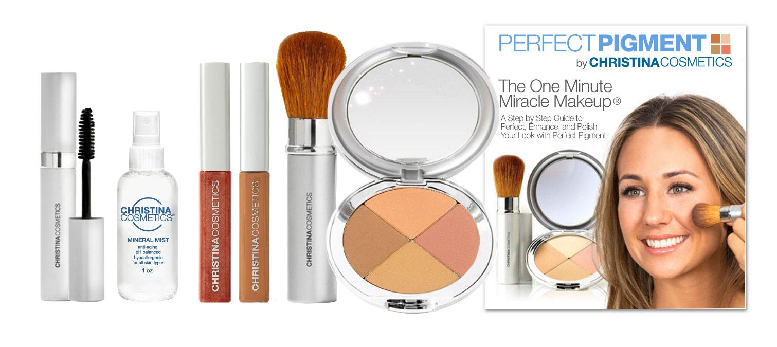 Christina Cosmetics Perfect Pigment 4: FULL SIZE 7 PIECE KIT - For Deep Caramel to Darker complexions