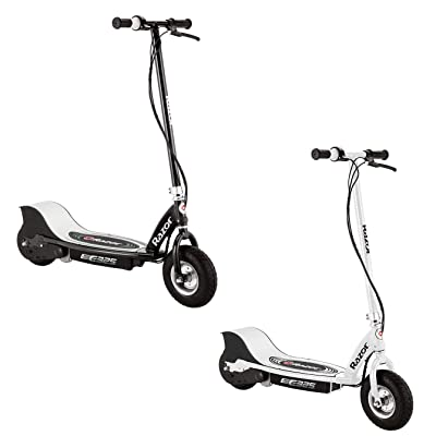 Razor E325 Durable Adult & Teen Ride-On 24V Motorized High-Torque Power Electric Scooter, Speeds up to 15 MPH with Brakes and Pneumatic Tires, 1 Black & 1 White : Sports & Outdoors