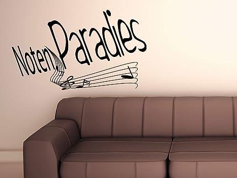 Parete adesivo decorazione da parete note musicali paradiso