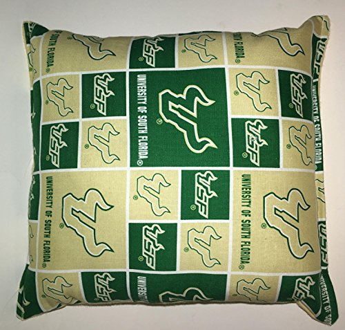 "South Florida University Pillow Football Pillow USF Pillow NCAA HANDMADE In USA Pillow is approximately 10"" X 11"