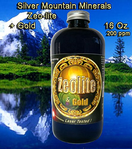 Zeo-Lite 16 Oz, Silver MTN Minerals, (Medical Purity Most Bioavailable 200 ppm colloidally Suspended with Gold Nano particulates)
