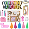 Paper Quilling Kit Assorted with 60 Colors 1625 Strips 15 Tools Beginners Quilling Kit for DIY Craft Scrapbooking Decoration Strips Tools …