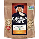 Quaker Organic Old Fashioned Oatmeal, Breakfast Cereal, Non-GMO Project Verified, 24 Ounce Resealable Bags, 4 Bags