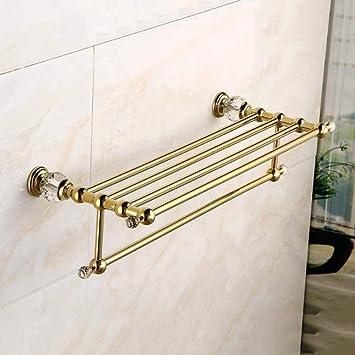 LGSYSYP Accesorios de baño/Percha Base de Cristal de Cobre ...