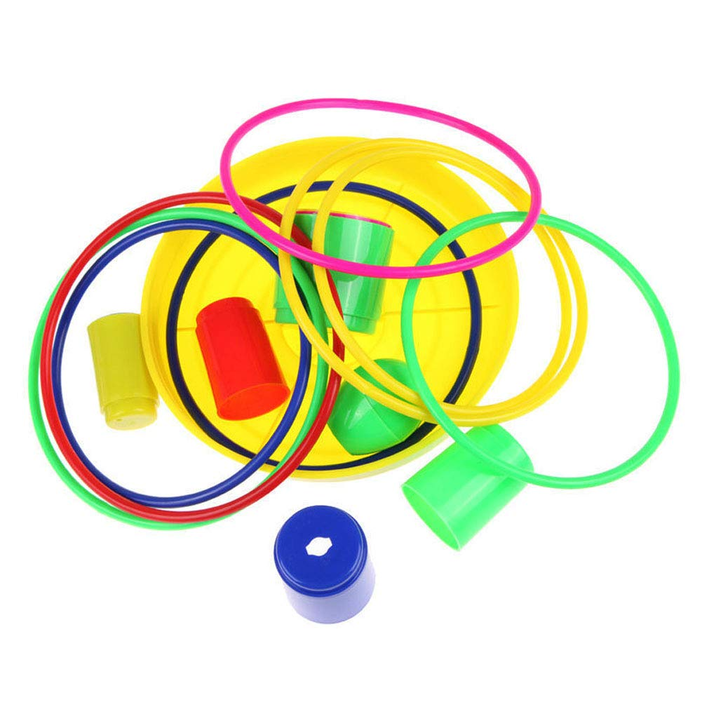 Sungpunet Plastic Throwing Ring Set Removable Sports Ring for Shooting Games