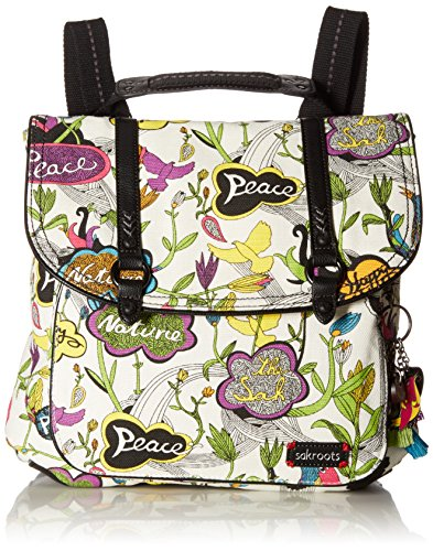 Sakroots Women's Convertible Backpack, Optic Peace ()