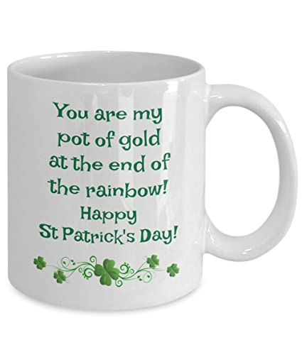 66b8f4805 Image Unavailable. Image not available for. Color: St Patricks Day coffee  mug ...