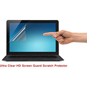 Saco Ultra Clear Glossy HD Screen Guard Scratch Protector for Acer One S1002 15XR 10.1 inch Laptop