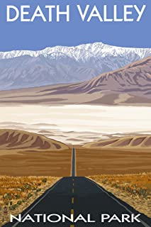 product image for Death Valley National Park, California - Highway View (9x12 Art Print, Wall Decor Travel Poster)