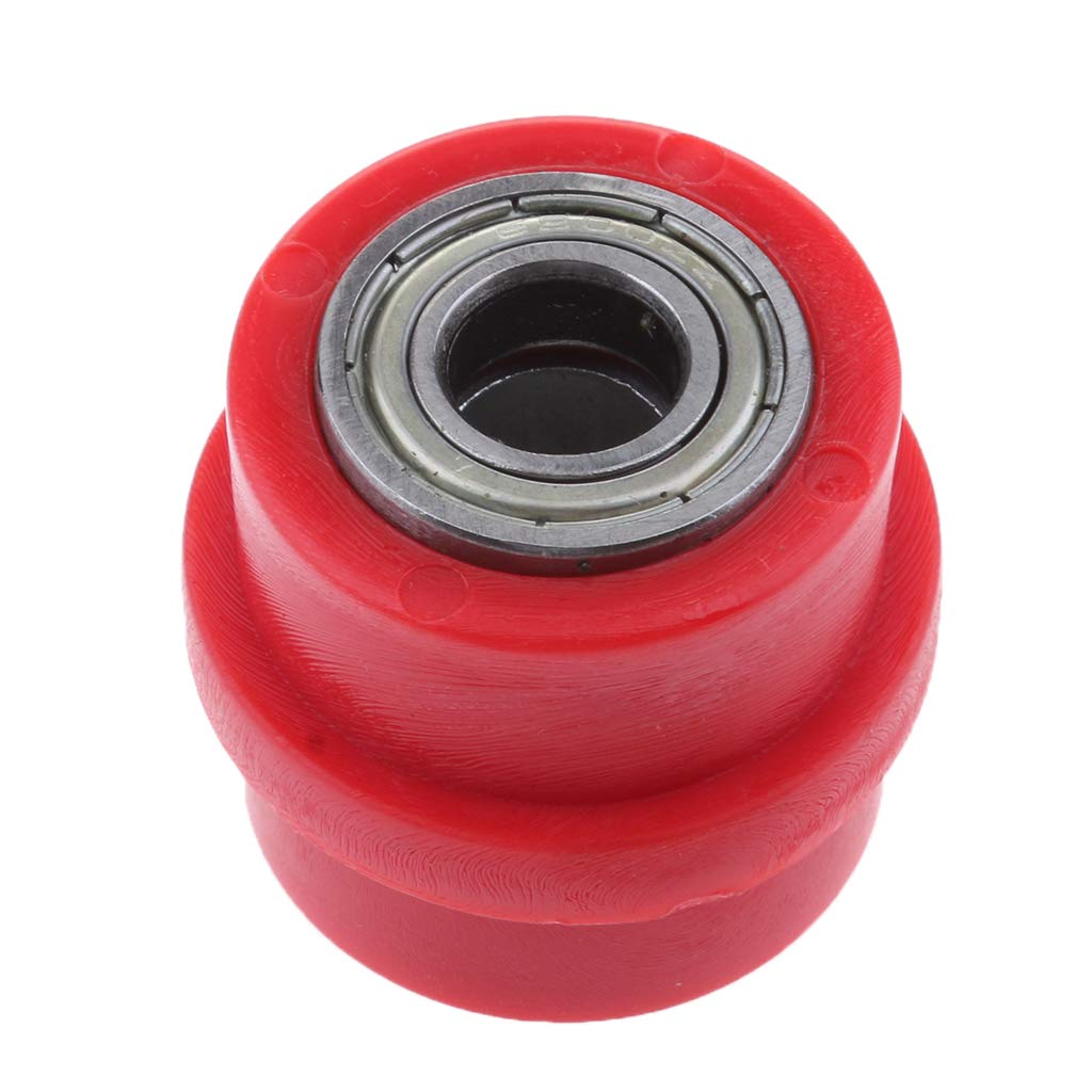 MagiDeal 10mm 0.39'' Chain Roller Pulley Tensioner Wheel Guide Pit Dirt Mini Bike - Red non-brand