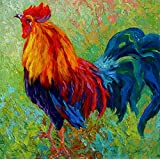 Y J ART Band-of-gold--rooster Modern Canvas Wall Art for Home and Office Decoration Oil Painting Print Art Animal on Canvas, 30X30 Inch,canvas Prints Giclee Artwork for Wall Decor MRR133